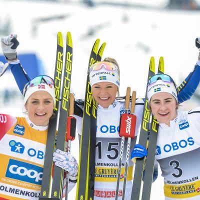 Therese Johaug, Frida Karlsson ja Ebba Andersson