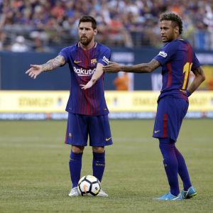 Lionel Messi och Neymar tillsammans på plan