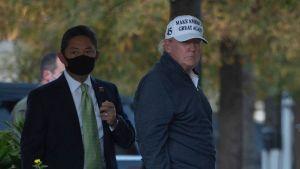 President Trump återvände från sin golfrunda i Virginia på eftermiddagen.