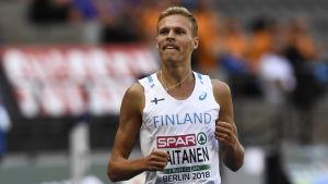 Topi Raitanen vid EM i friidrott.