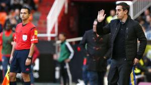 Valencias chefstränare Gary Neville.