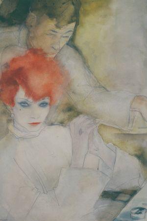 Jeanne Mammen, Die Rothaarige (Den rödhåriga), ca 1928