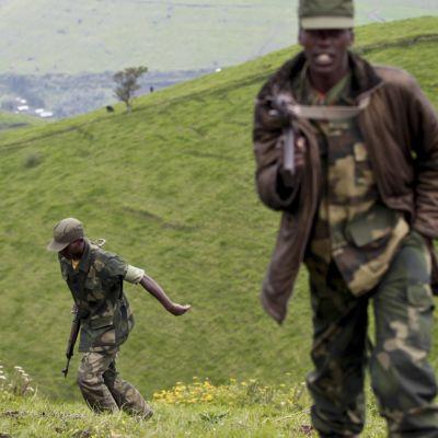 Rebeller i nordöstra Kongo-Kinshasa har dödat minst ett tjugotal FN- och regeringssoldater kring staden beni