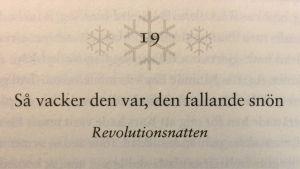 Kapitelrubrik ur Orhan Pamuks bok Snö