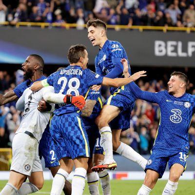 Chelsea vann Uefa Supercupen 2021.