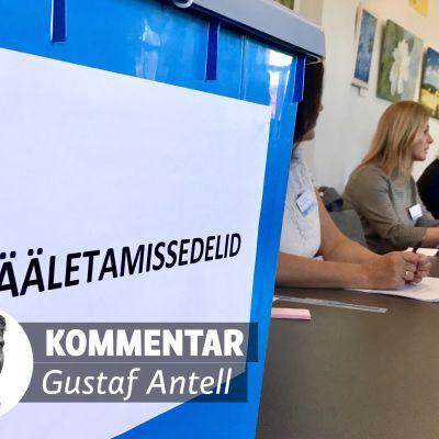Vallokal i Estland.