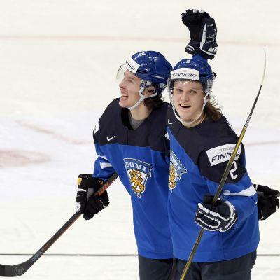 Sami Niku jublade i Finlands tröja under JVM. I fredagens ligaomgång jublade han för JYP mot Sport.