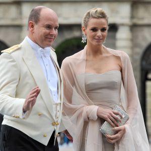 Prins Albert II av Monaco och Charlene Wittstock.