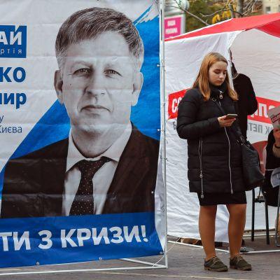 vaalitelttoja Kiovassa.