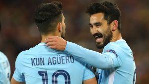 Ilkay Gündogan och Sergio Agüero gjorde mål mot Basel.