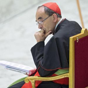 Ärkebiskopen av Lyon, kardinal Philippe Barbarin i Vatikanstaten år 2016.