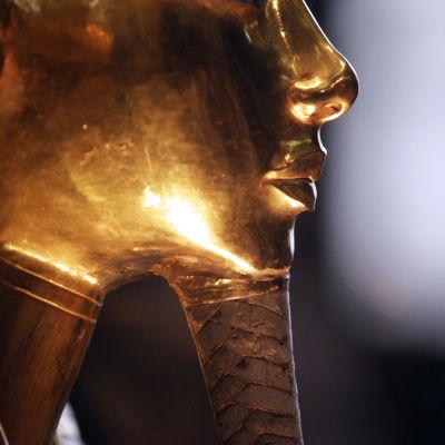 Tutankhamons mask på Egyptiska museet i Kairo 24.1.2015