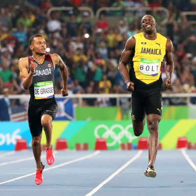 Usain Bolt och Andre De Grasse