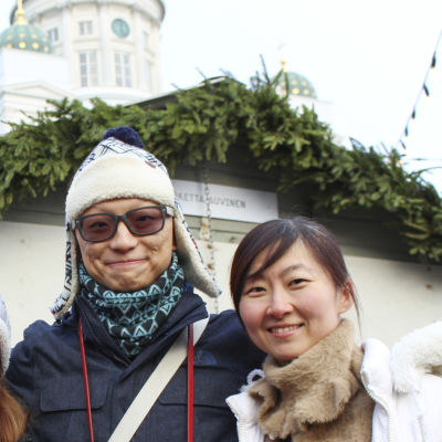Vincci Lai, Phoenix Yau, Alan Chan och Kyna Wong från Hong Kong.
