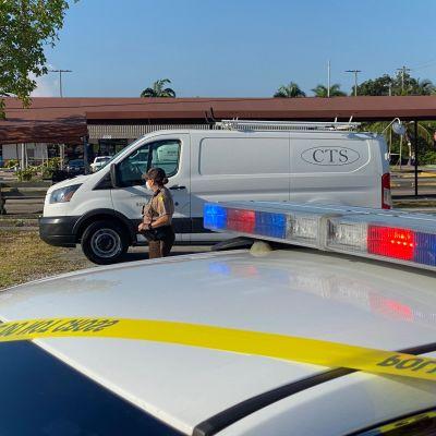 Poliisin eristysnauhaa Miamissa.