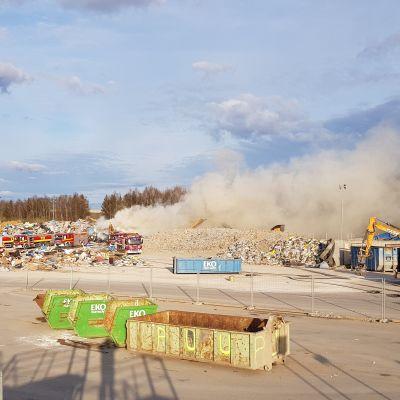 Brand vid Ekopartners i Åbo.