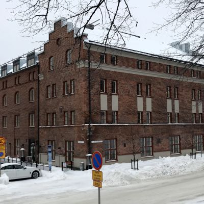 Lahden uusi museo Malva edestä päin, talvi