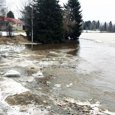 Tulvatilanne Merikaarrossa 16.4.2018