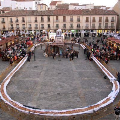Kuvassa Espanjassa sijaitsevan Palencian kaupungin keskusaukio