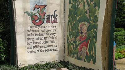 """Bild av en sagobok """"Jack och bönstjälken""""."""