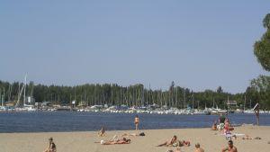 Sandö sandstrand i Vasa