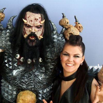Lordi ja Saara Aalto tapasivat Lissabonissa, Eurovision Laulukilpailussa 2018