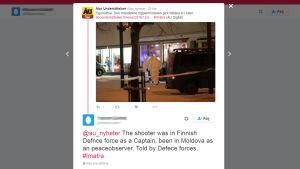 Skärmdump av nättroll som försöker påverka Åbo underrättelser med falsk information.