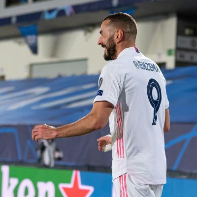 Karim Benzema oli Real Madridin sankari keskiviikkona.