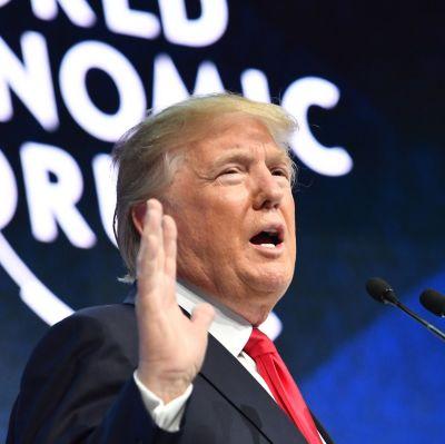 Donald Trump i Davos.