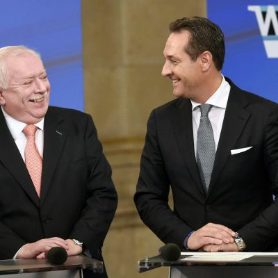 Michael Haeupl och Heinz-Christian Strache.
