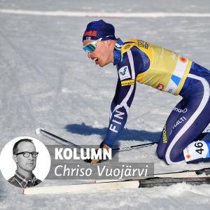 Kolumnvinjett Chriso Vuojärvi