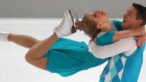 Ossi Kanervo och Henna Lindholm vid Nebelhorn Trophy 2013.