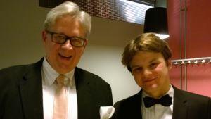 Erkki Korhonen and pianist Georgy Tchaidze in Hämeenlinna