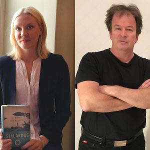 Från vänster Mauri Kunna, Johanna Holmström och Kjell Westö