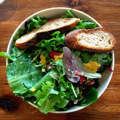 En vegarisk sallad