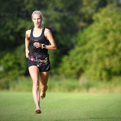 Camilla Richardsson löper.