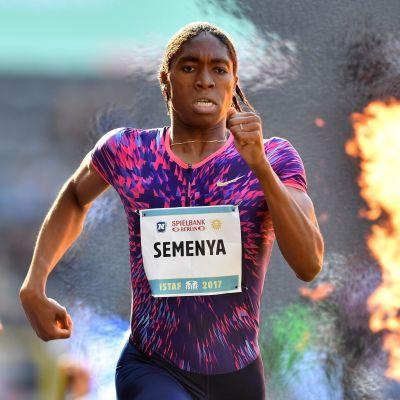 Caster Semenya springer världsrekord på 600 meter, Berlin 2017.