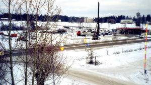 K-marketen byggs vid Borgnäsvägen i Nickby.