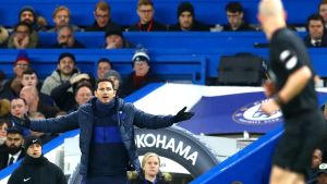 Chelseatränaren Frank Lampard var inte nöjd med domsluten.