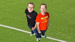 Antti Koivukangas och Christian Vuojärvi gör Yle Sportens podd.