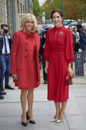 Brigitte Macron och kronprinsessan Mary