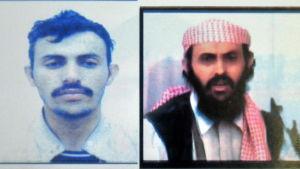 Polisen i Jemen publicerade de här bilderna på Qassim al-Rimi på en affisch där han efterlystes i oktober 2010.