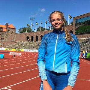 Silja Andersson efter sin stavinsats.