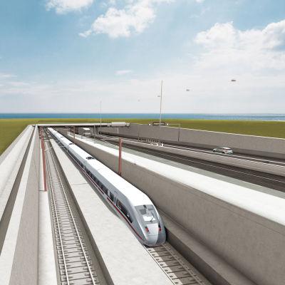 En 18 kilometer lång tunnel mellan Danmark och Tyskland är nu ett steg närmare att bli verklighe