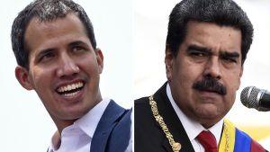Juan Guaidó och Nicolás Maduro