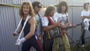 Van Halen på festival backstage 1984
