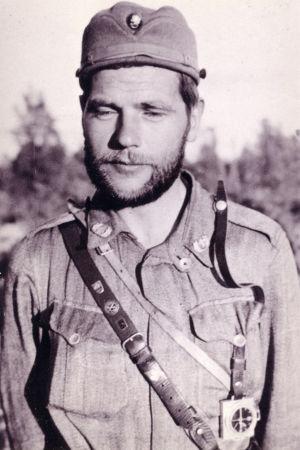 Sotilaspastori Otso Kianto Äyräpäässä kesällä 1944