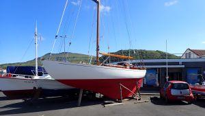 S/Y Henrietta på land på Azorerna