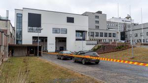 Koronaviruksen näytteenottopaikassa Hatanpään sairaalalla.