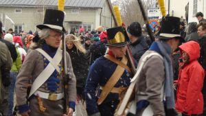 Kostymer och firande av Borgå lantdag